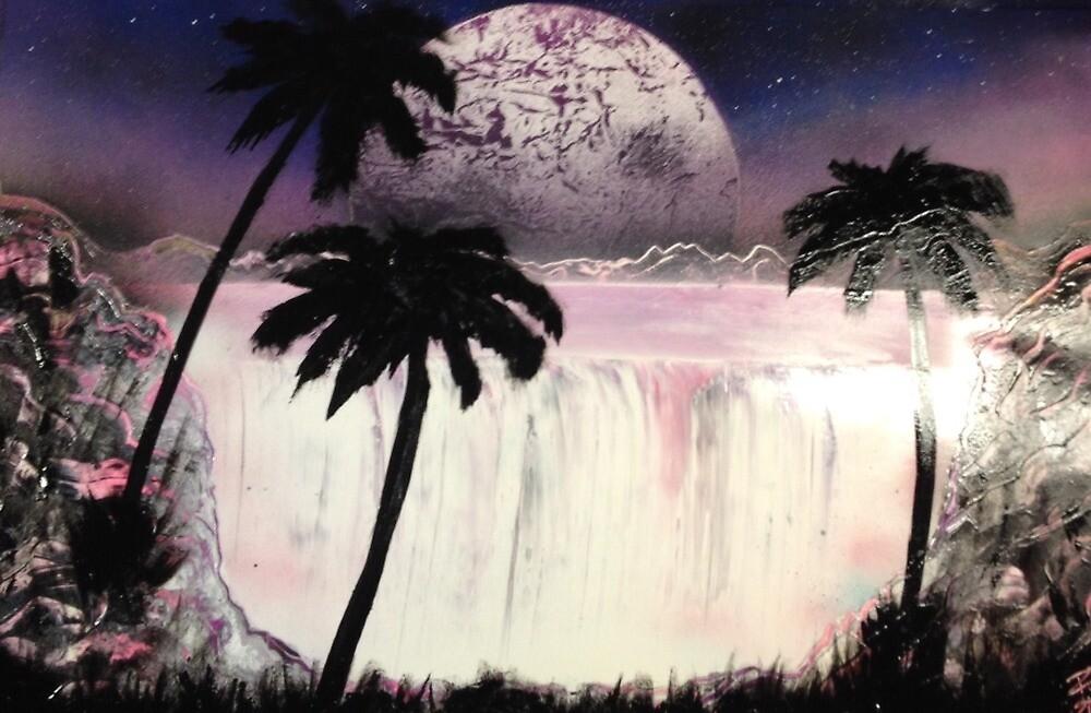 Pink Waterfall by Randi Smith