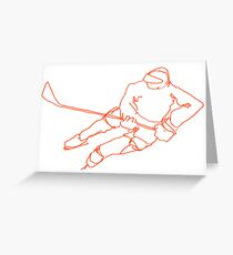 Hockey Player 6 Greeting Card