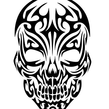 Tribal Skull by revoltz