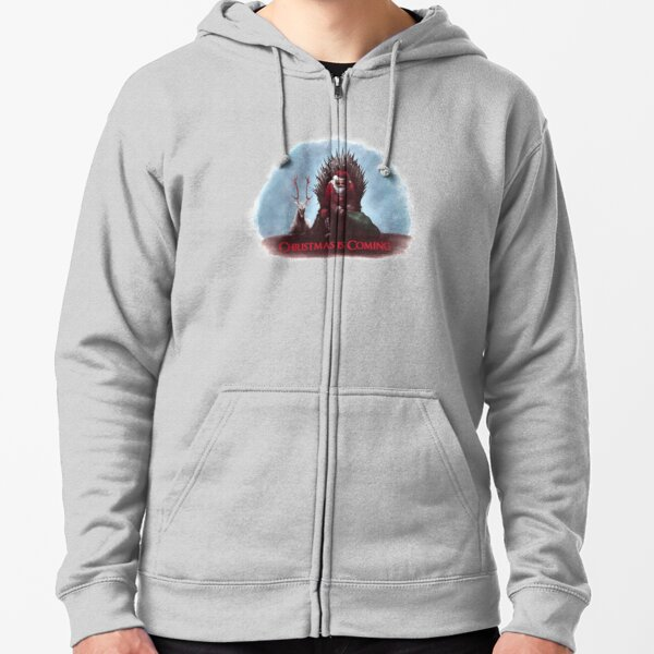 Christmas is Coming Zipped Hoodie