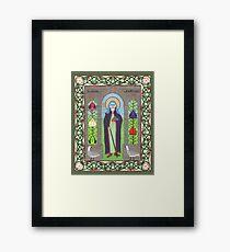 Icon of St. Hilda Framed Print
