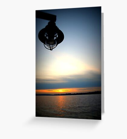 Lomography Sunset Greeting Card