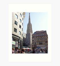 St. Stephen's Plaza, Vienna, Austria Art Print