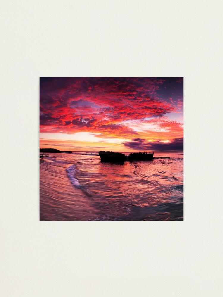 Alternate view of Trigg Beach Sunset Photographic Print
