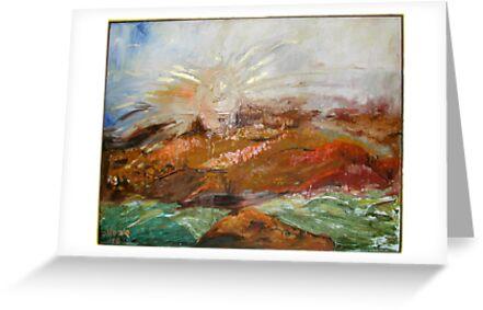Sunrise in Israeli Valley  by Stella  Shube As
