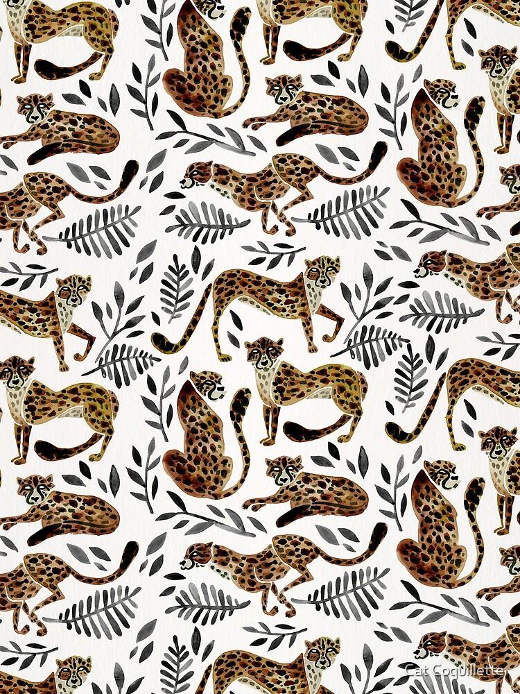 Cheetah Collection – Mocha & Black Palette by catcoq