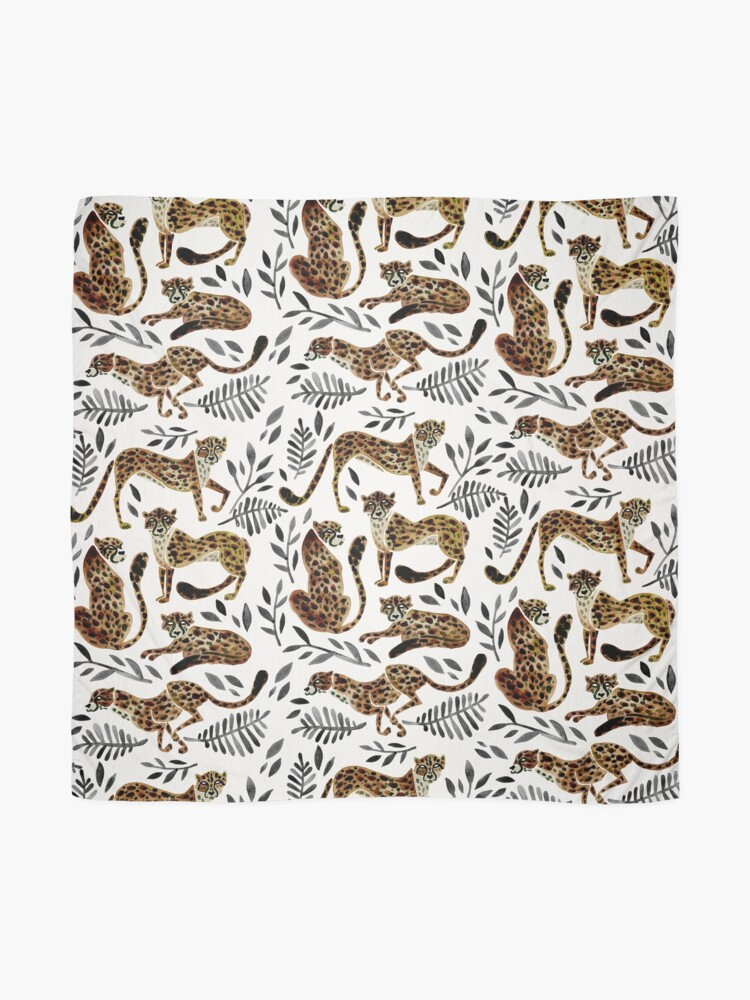 Alternate view of Cheetah Collection – Mocha & Black Palette Scarf