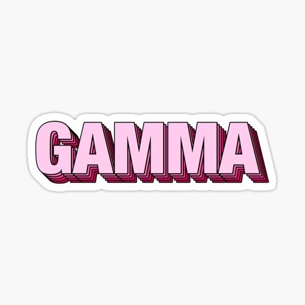 Pink Gamma Sticker