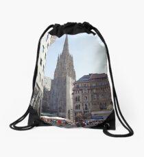 St. Stephen's Plaza, Vienna, Austria Drawstring Bag