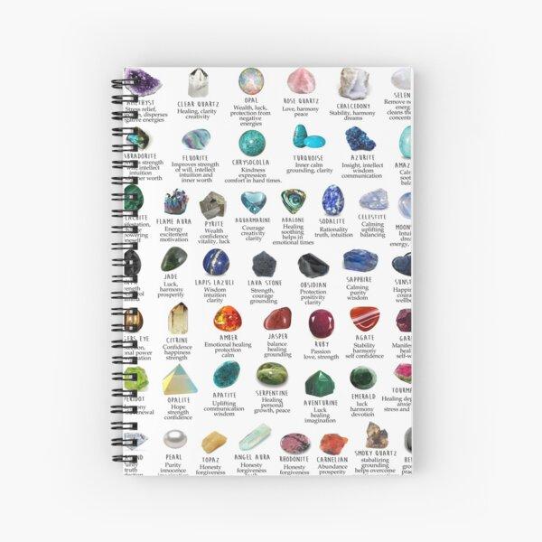crystals gemstones identification Spiral Notebook