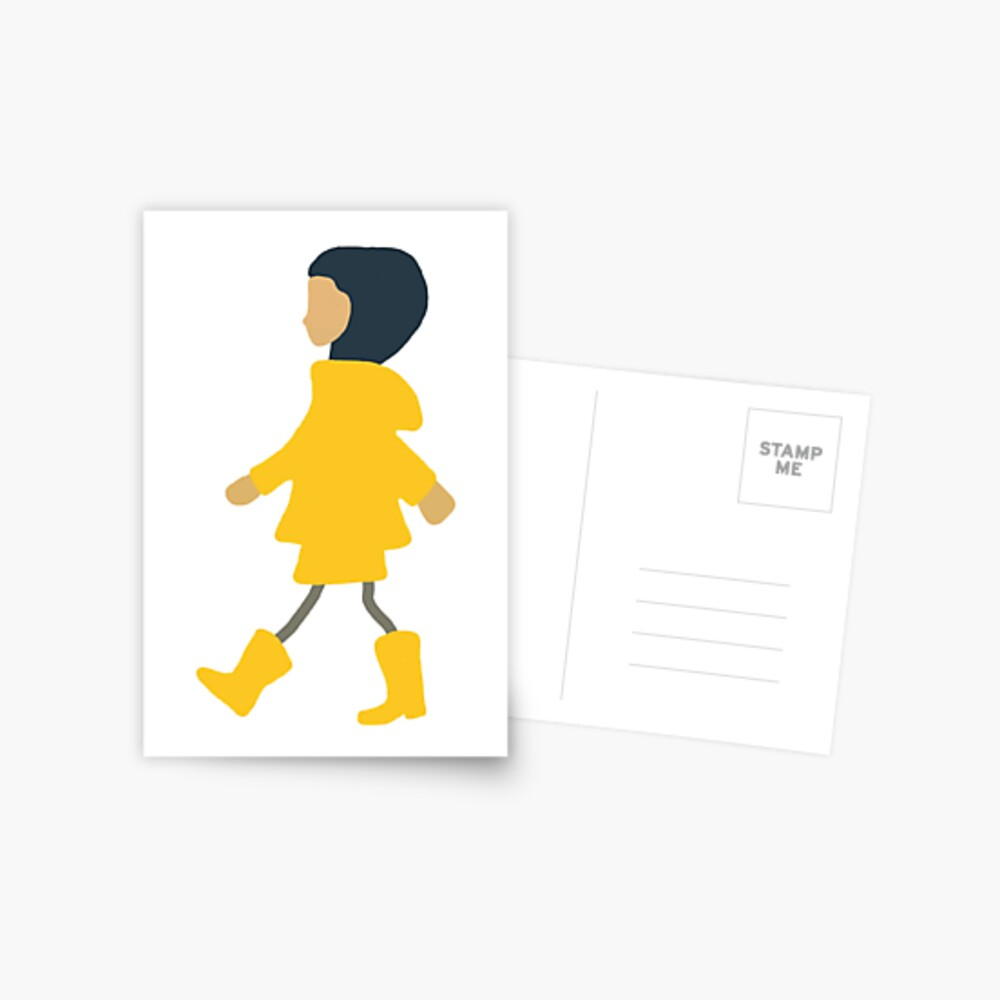 Coraline Drawing Postcard By Camiherrera Redbubble