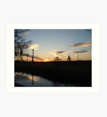 Sunset over Econfina Creek 2/11/2011 Art Print