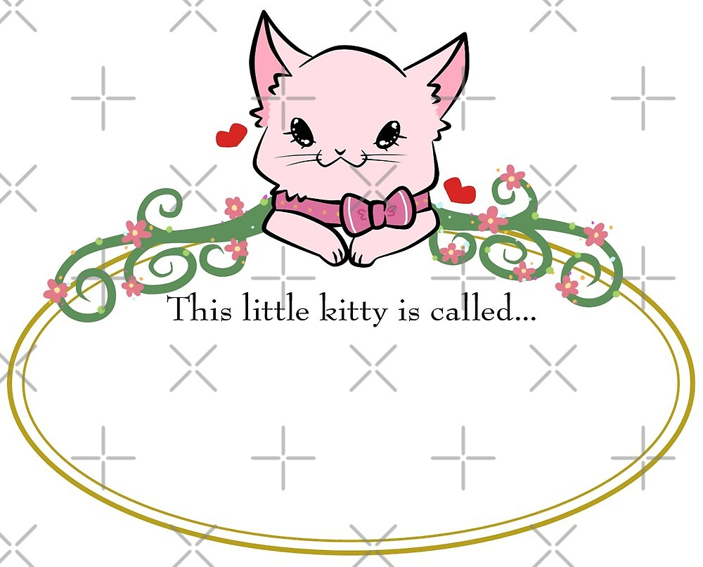 Pink kitty label by anko1783