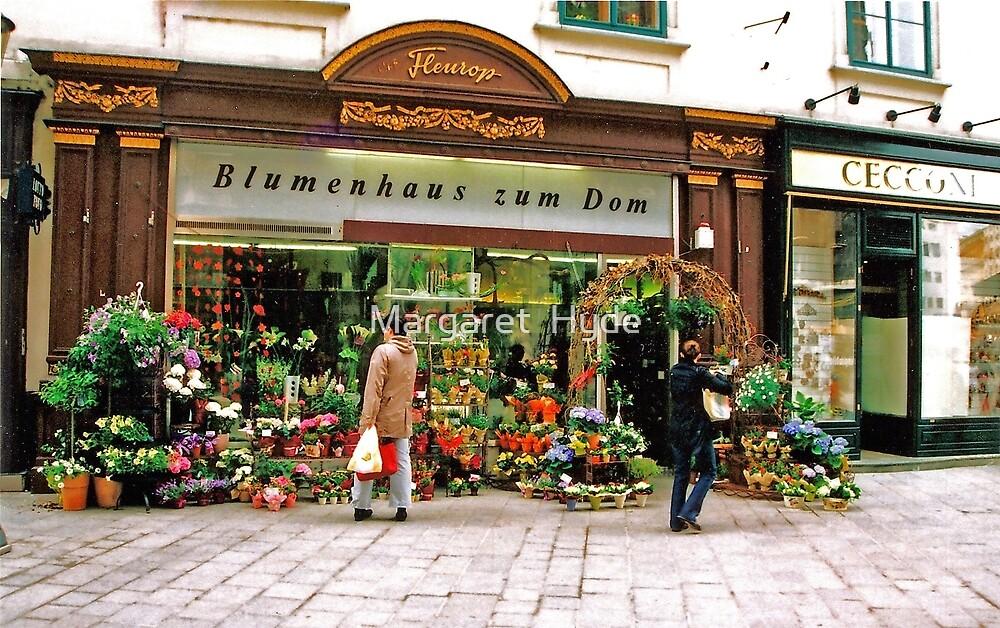 flower shop, Vienna, Austria by Margaret  Hyde