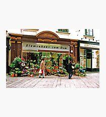flower shop, Vienna, Austria Photographic Print