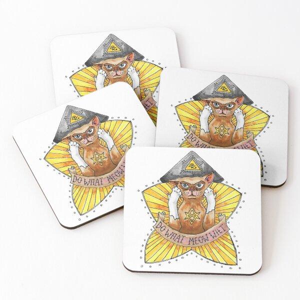Do What Meow Wilt Coasters (Set of 4)