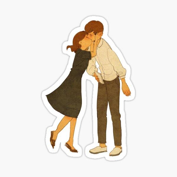 Kiss me Sticker