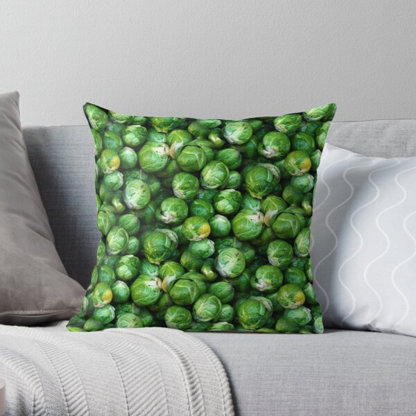 Sprouts Forever (pattern) Throw Pillow