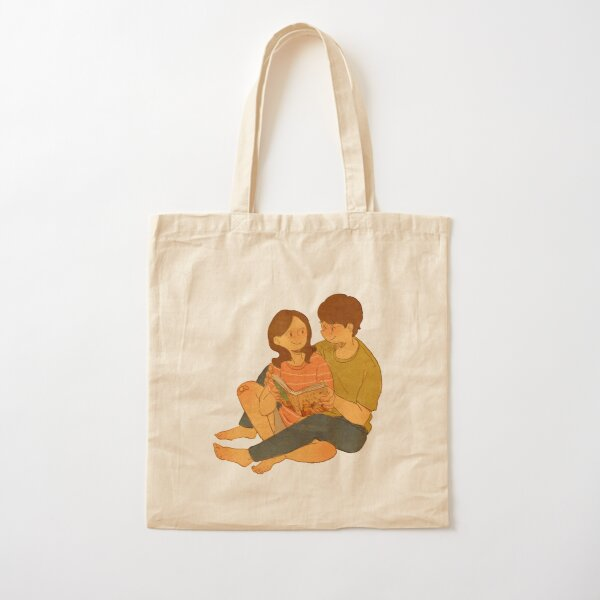 We're reading the Love Book Cotton Tote Bag
