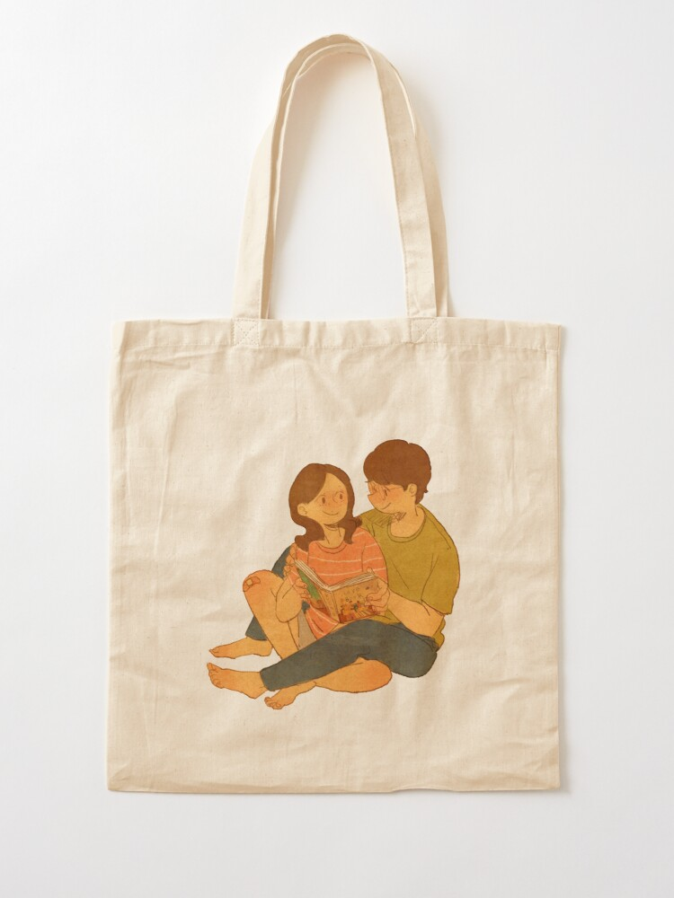 Alternate view of We're reading the Love Book Tote Bag