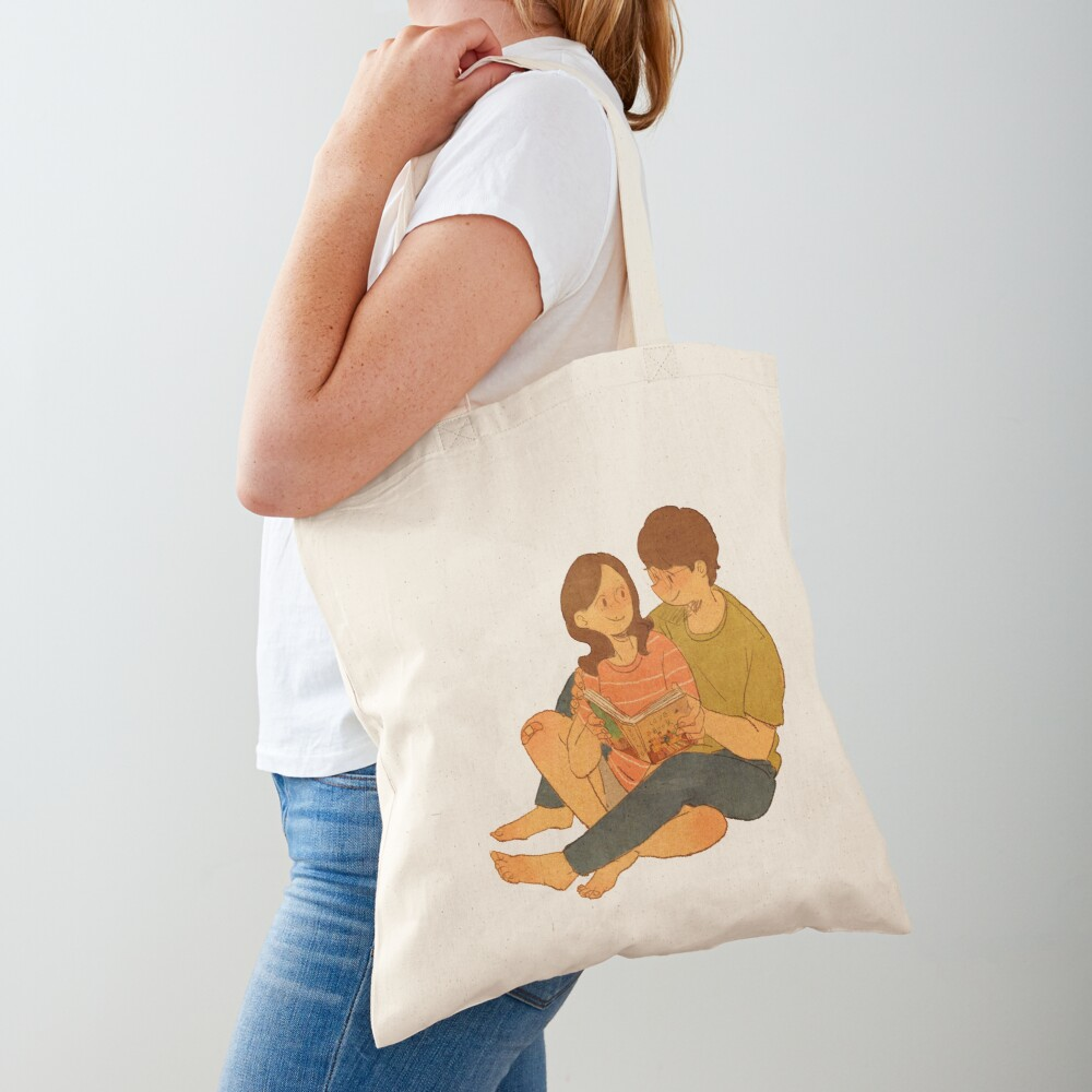 We're reading the Love Book Tote Bag