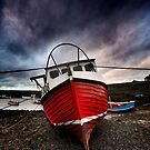 Red Boat at Paddys by Dave Hudspeth