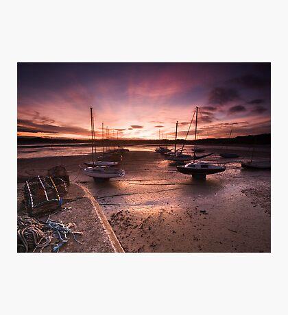 Beadnal Harbour Sunset Photographic Print