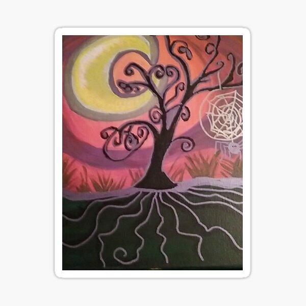 THE ENCHANTRESS TREE (TREE MAGICK PAINTING)  Sticker