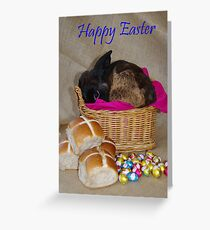 Bunny in a Basket Greeting Card