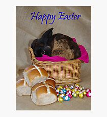 Bunny in a Basket Photographic Print