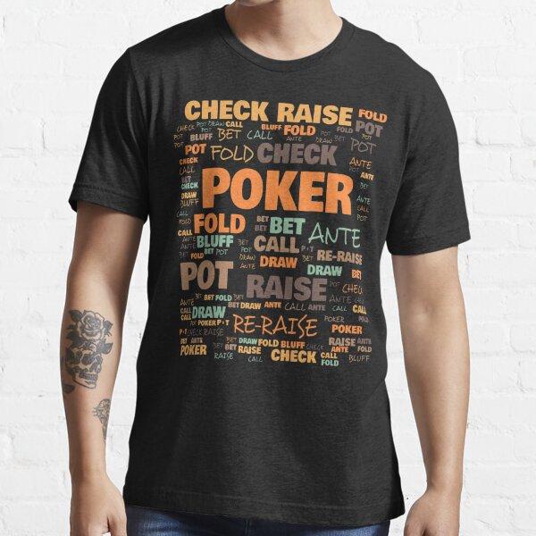 Terminologie du poker - Termes couramment utilisés au poker T-shirt essentiel