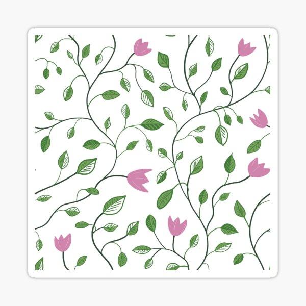 Spring Flower Pink Tulip Sticker