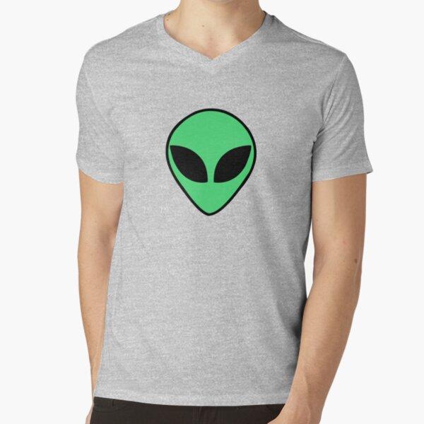 Alien  head V-Neck T-Shirt