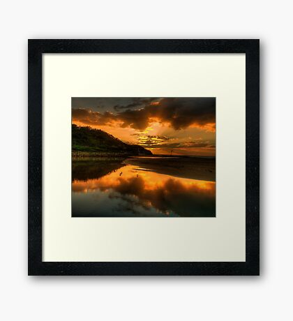 Golden Wedding - Narrabeen Lakes Entrance, Sydney - The HDR Experience Framed Print
