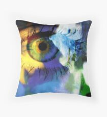 Sunflower eye Throw Pillow