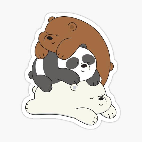 Panda y Ice Bear de We Bare Bears ™. Pegatina