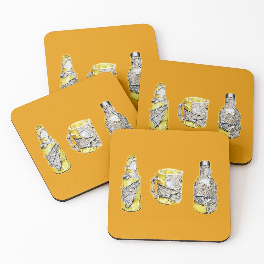 Pres (Colour pencil drawing) Coasters (Set of 4)