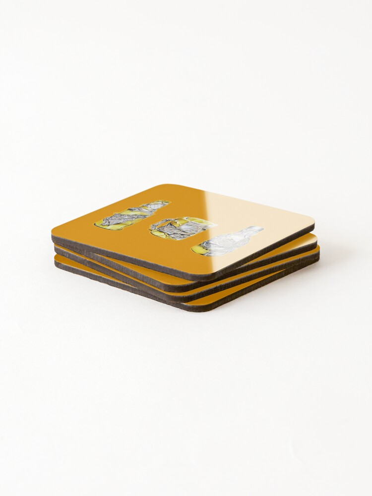 Alternate view of Pres (Colour pencil drawing) Coasters (Set of 4)