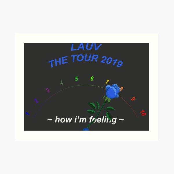 """Lauv /""""~how i/'m feeling~/"""" Art Music Album Poster Print 12/"""" 16/"""" 20/"""" 24/"""" Sizes"""