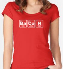 Bacon - Periodic Table Women's Fitted Scoop T-Shirt