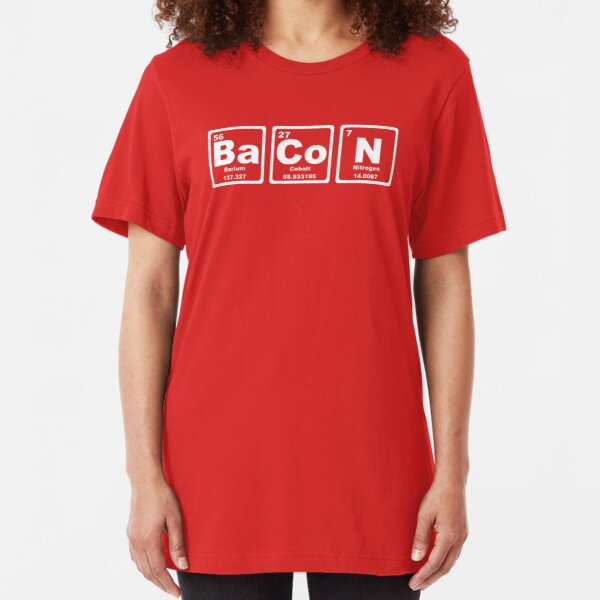 Bacon - Periodic Table Slim Fit T-Shirt