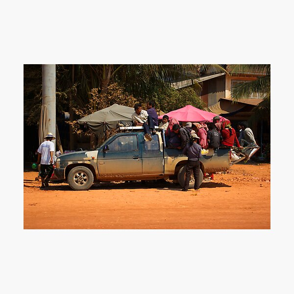 Cambodian Taxi Photographic Print