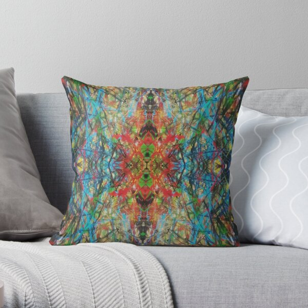 Color Trippin Throw Pillow