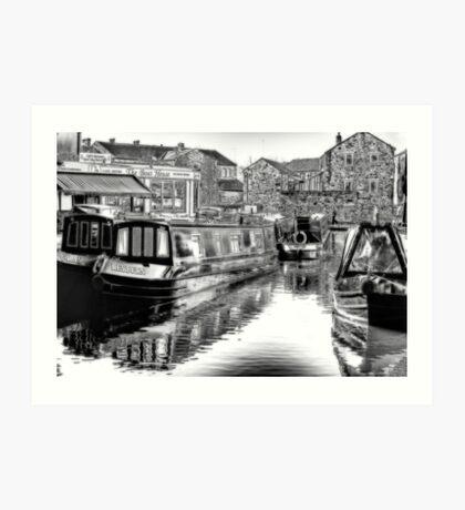 Skipton Canal Basin Art Print