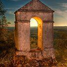 Sunset in Monfrague Castle by Gabor Pozsgai