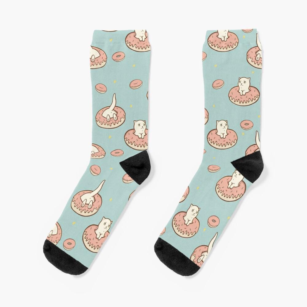 Cat Donut Socks