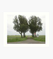 Lonely Trees in Dutch landscape Art Print