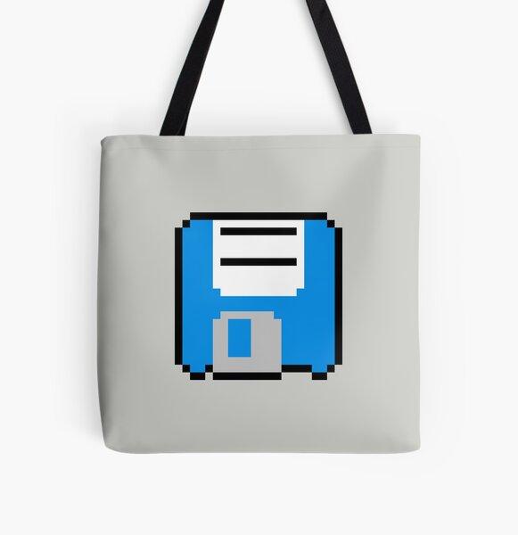 Floppy Disk - Blue All Over Print Tote Bag