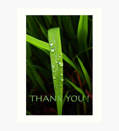 simple grassblade thank you Art Print