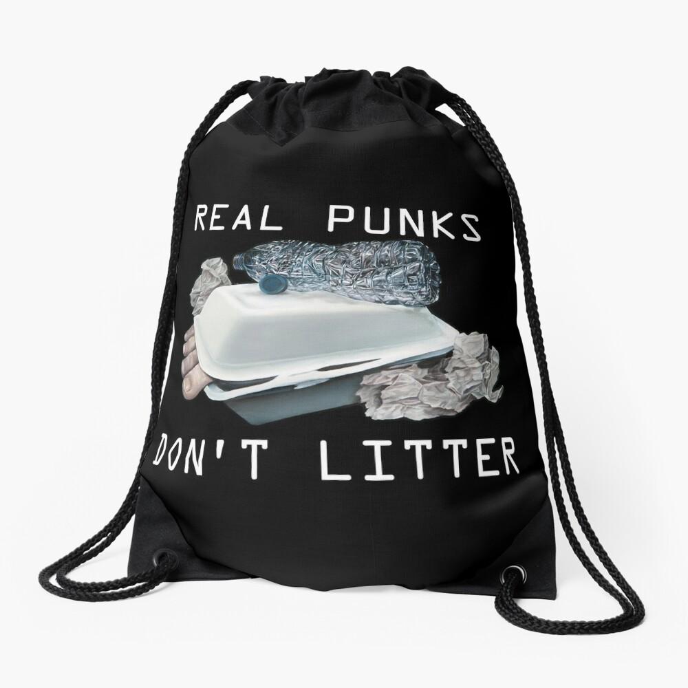 Dystopian Detritals (Oil painting) Drawstring Bag